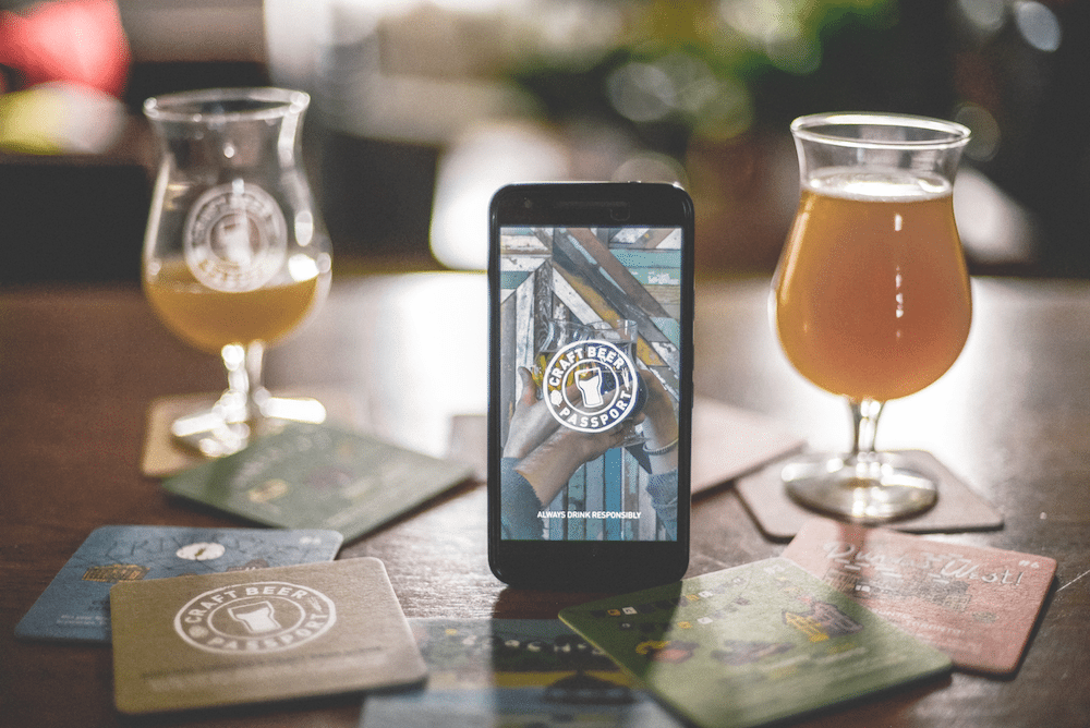 This is an image of the Craft Beer Passport app Product Shot! Get a $2 craft beer using the Craft Beer Passport app!