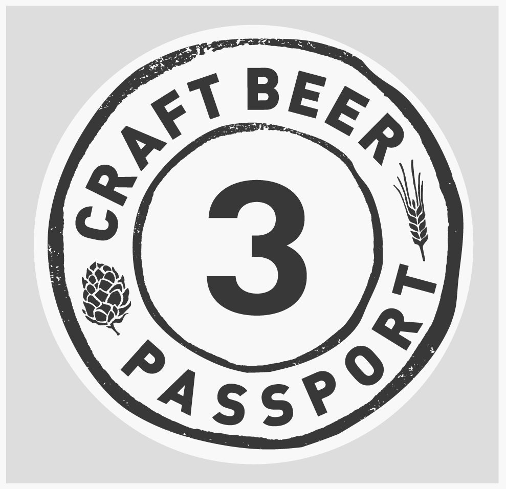 This is an image of the 3 Stamp Craft Beer Passport Plan Logo.