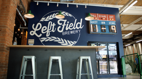 This is an image of Left Field Brewery on the Craft Beer Passport website. Get a $2 craft beer here using the Craft Beer Passport app!
