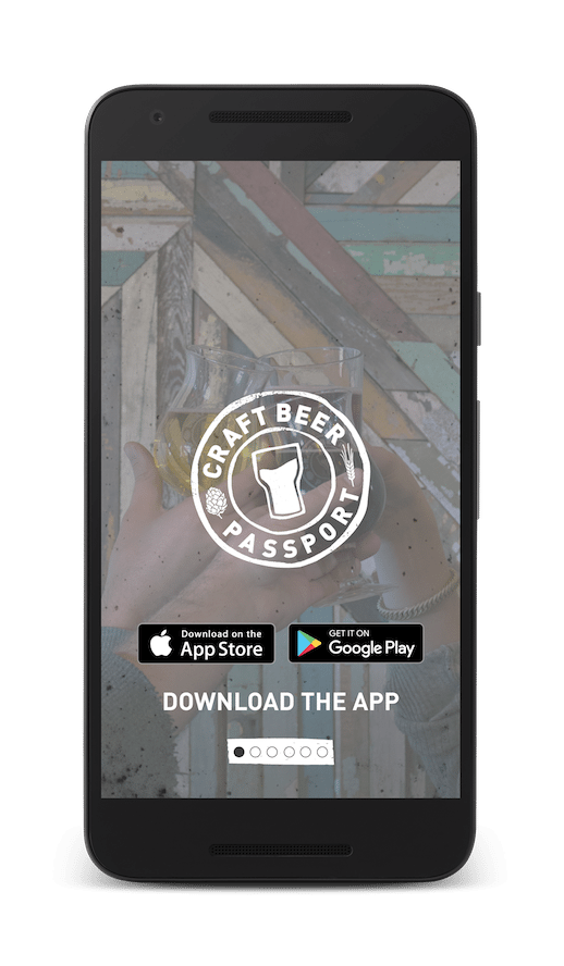 This is an image of the How It Works Demo on the Craft Beer Passport app! Get a $2 craft beer using the Craft Beer Passport app!