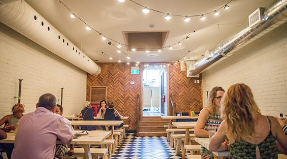 This is an image of The Dylan Bar restaurant. Get a $2 craft beer here using the Craft Beer Passport app!