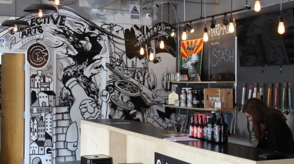 This is an image of Collective Arts Brewery. Get a $2 craft beer here using the Craft Beer Passport app!