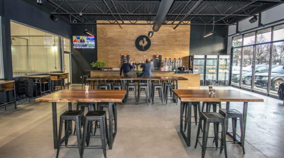This is an image of the Big Rock Brewery Etobicoke taproom. Get a $2 craft beer here using the Craft Beer Passport app!