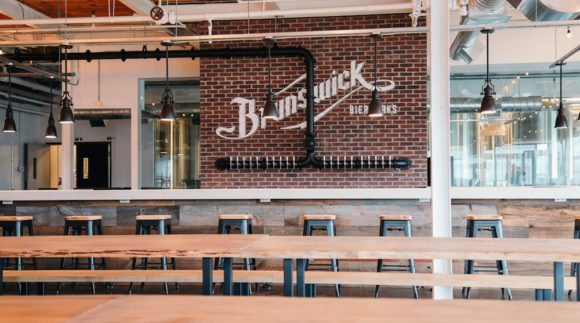 This is an image of the Brunswick Bierworks taproom on the Craft Beer Passport website. Get a $2 craft beer here using the Craft Beer Passport app!
