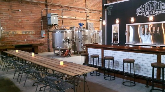 This is an image of the Mash Paddle Brewing Taproom.