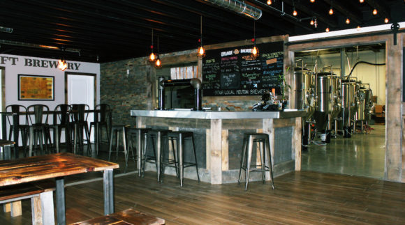 This is an image of the Orange Snail Taproom in Milton, Ontario.