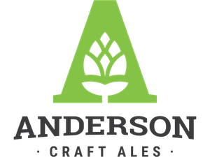 This is a photo of Anderson Craft Ales logo. Get a $2 craft beer here using the Craft Beer Passport app!