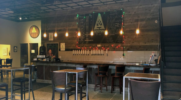 This is a photo of Anderson Craft Ales taproom. Get a $2 craft beer here using the Craft Beer Passport app!