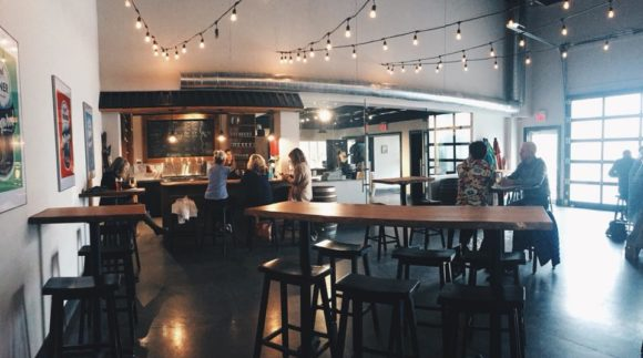 This is an image of Collingwood Brewery's taproom. Get a $2 craft beer here using the Craft Beer Passport app!