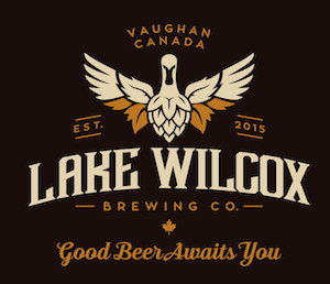 This is an image of Lake Wilcox's logo. Get a $2 craft beer here using the Craft Beer Passport app!