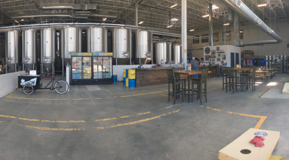 This is an image of Side Launch Brewing Co's Taproom. Get a $2 craft beer here using the Craft Beer Passport app!