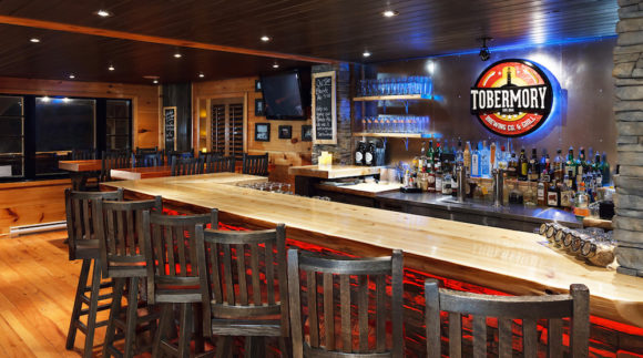 This is an image of the Tobermory Brewing Taproom from the Craft Beer Passport website. Get a $2 craft beer here using the Craft Beer Passport app!