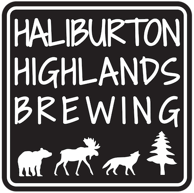 This is a photo of Haliburton Highlands Brewing's logo. Get a $2 craft beer here with Craft Beer Passport app.