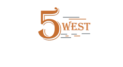 This is a photo of 5 West Brewpub's logo. Get a $2 craft beer here with Craft Beer Passport app.