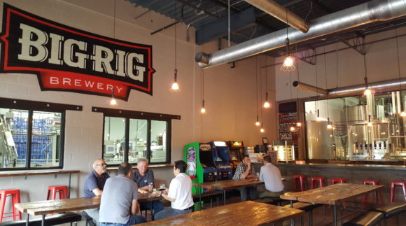 This is a photo of Big Rig Brewery. Get a $2 craft beer here with Craft Beer Passport app.
