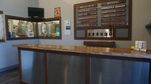This is a photo of Covered Bridge Brewing's taproom. Get a $2 craft beer here with Craft Beer Passport app.