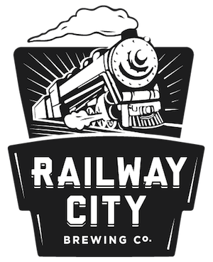 This is a photo of Railway City Brewing's logo. Get a $2 craft beer here with Craft Beer Passport app.