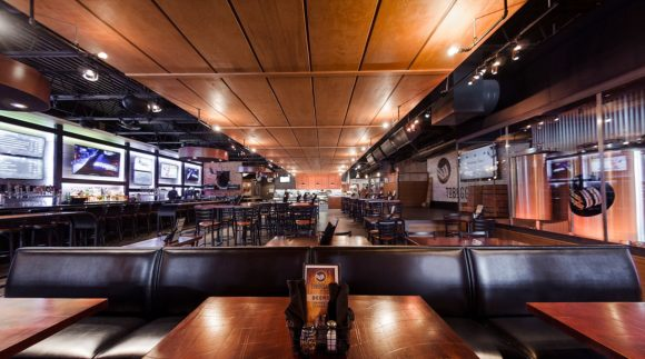 This is a photo of Toboggan Brewing's taproom. Get a $2 craft beer here with Craft Beer Passport app.