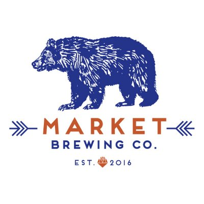 This is a photo of Market Brewing Company's logo. Get a $2 craft beer here with Craft Beer Passport app.
