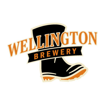 This is a photo of Wellington Brewery's logo. Get a $2 craft beer here with Craft Beer Passport app.