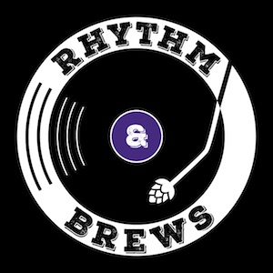 This is a photo of Rhythm & Brews Brewing's logo. Get a $2 craft beer here with Craft Beer Passport app.