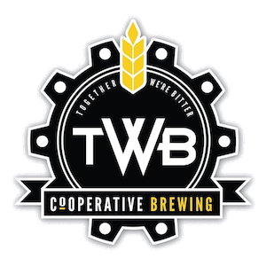This is a photo of TWB Brewing's logo. Get a $2 craft beer here with Craft Beer Passport app.