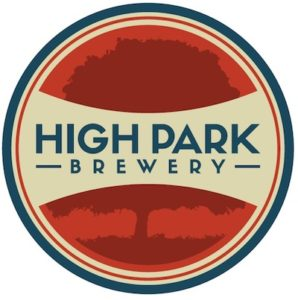 This is a photo of High Park Brewery's logo. Get a $2 craft beer here with Craft Beer Passport app.