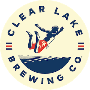 This is a photo of Clear Lake Brewing Co's Logo. Get a $2 craft beer here with Craft Beer Passport app.