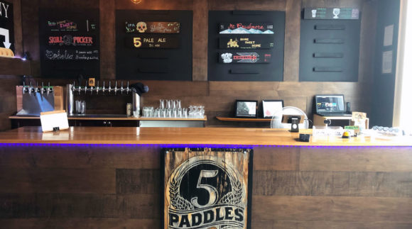 This is a photo of 5 Paddles Brewing Co. Get a $2 craft beer here with Craft Beer Passport app.
