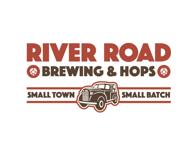This is a photo of River Road Brewing & Hop's logo. Get a $2 craft beer here with Craft Beer Passport app.