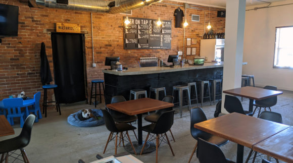 This is a photo of Katalyst Brewing Co.'s taproom. Get a $2 craft beer here with Craft Beer Passport app.